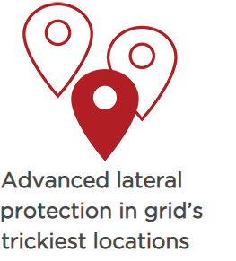 Advanced lateral protection in grid's trickiest locations